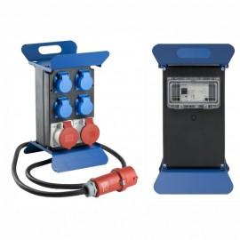 Разпределително табло с 4 монофазни, 2 трифазни контакта и дефектотокова защита, IP44 AS-Schwabe GmbH 60845