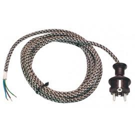 Кабел захранващ 3х1.0 кв.мм, 3 м, H03RT-F AS-Schwabe 87202