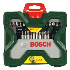 Комплект накрайници и свредла 43 части с 6-стен опашка X-Line Bosch 2 607 019 613