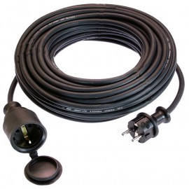 Удължител с кабел 25 м, 3х1,5 мм, H05RR-F, IP44, черен AS-Schwabe GmbH 60364