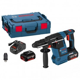 Перфоратор Bosch акумулаторен безчетков SDS-plus, 18 V, 6 Ah, 2.6 J, GBH 18V-26F 0 611 909 003