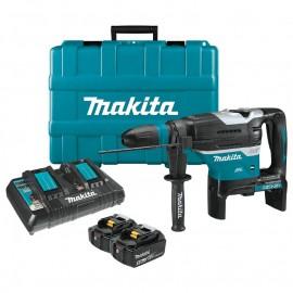 Makita DHR400PT2U, Перфоратор SDS-max акумулаторен 36 V, 5 Ah, 250-500 об./мин, 1450-2900 уд./мин, 8 J, 18+18 V