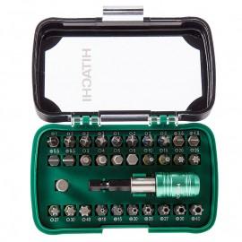Накрайник с магнитен държач комплект 32 бр. PH,PZ,SB,TX,SW Hitachi 750363