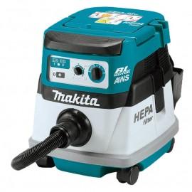Makita DVC864LZ, Прахосмукачка акумулаторна за сухо почистване без батерия и зарядно 36.0 V, 18+18 V