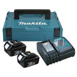 Батерия Li-Ion комплект със зарядно за електроинструменти 3 Ah, 18 V, 2 бр. Makita