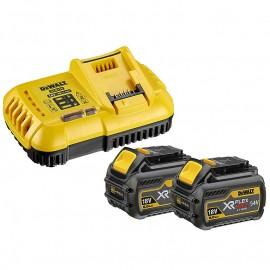 Батерия DeWALT Li-Ion комплект със зарядно за електроинструменти 18/54 V, 2/6 Ah, 2 бр., DCB118T2