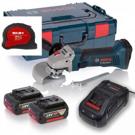 Ъглошлайф акумулаторен BOSCH GWS 18-125 V-LI Professional /18 V, 5 Ah, Ø 125 мм/