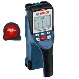 Bosch D-tect 150 SV, Детектор за метал, дърво, пластмаса и кабели стомана 5.5 см, бетон 6 см, кабели под напрежение 1.5 см