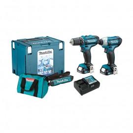 Комплект акумулаторни инструменти CLX201AX6-DF331D,TD110D Makita /12.0 V, 2.0 Ah/