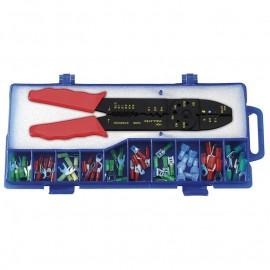 Fervi 0122, Клещи кербовъчни за изолирани кабелни обувки 220 мм, ф 0.5-6 мм2