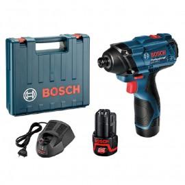 Bosch GDR 120-Li, Винтоверт акумулаторен 2-скоростен ударен 12 V, 1.5 Ah, 0-1300 / 0-2600 об./мин, 0-3400 уд./мин, 100 Nm