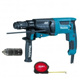 Makita HR2631FT, Перфоратор SDS-plus електрически 800 W, 0-1200 об./мин, 0-4600 уд./мин, 2.4 J