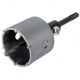 WOLFCRAFT , Боркорона за тухла с твърдосплавни пластини 105 мм, 46 мм, с адаптор SDS-plus