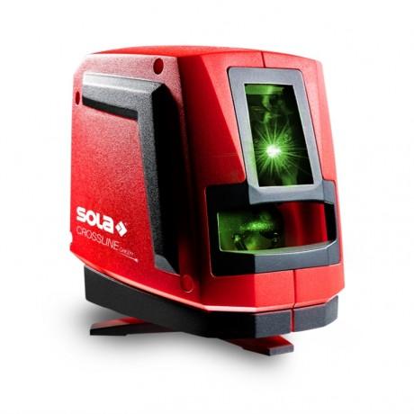 Sola Crossline Green, Нивелир лазерен линеен с 2 лъча 20 м, 0.2 мм/м, с тринога