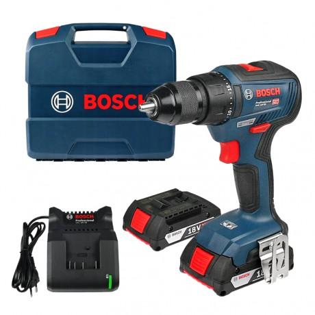Bosch GSR 18V-50 Professional, Винтоверт акумулаторен 2-скоростен 18 V, 2 Ah, 0-460 / 0-1800 об./мин, 50 Nm