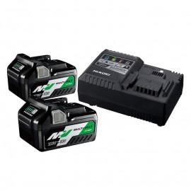 HiKOKI - Hitachi UC18YSL3-WEZ, Батерия за електроинструменти Li-Ion комплект 36/18 V, 2.5/5 Ah, 2x BSL36A18 + UC18YSL3