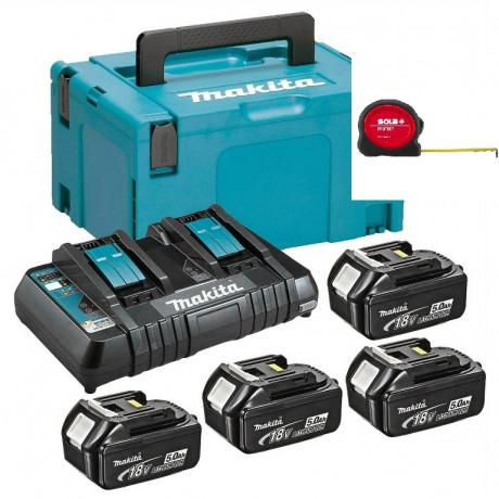 Батерия за електроинструменти Li-Ion комплект 18 V, 5 Ah, 4х BL1850B, DC18RD Makita MKP3PT184