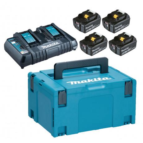 Батерия Li-Ion комплект със зарядно за електроинструменти 6 Ah, 18 V, 4 бр. Makita BL1860 Set