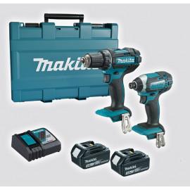 Комплект Makita акумулаторни инструменти DTD152Z, DDF482Z, 18 V, 3 Ah, DLX2127X