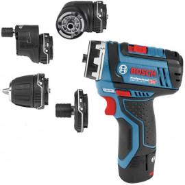 Винтоверт Bosch акумулаторен 12 V, 2 Ah, 30 Nm, 1-10 мм, GSR 12V-15 FC-0 601 9F6 000
