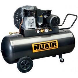 Компресор NUAIR с електродвигател с ремъчна предавка 10 bar, 3 к.с., 330 л/мин, 200 л, B2800B/3M/200 TECH