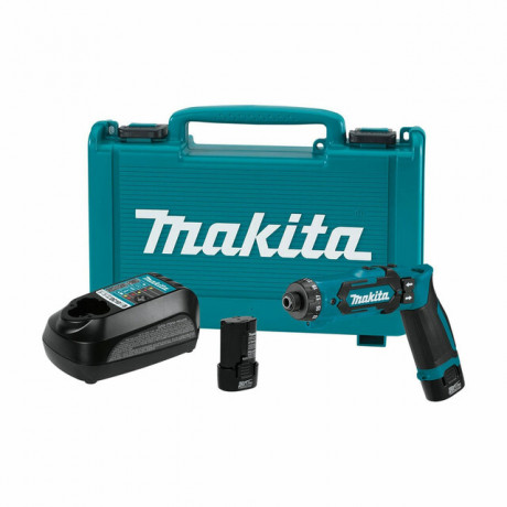 Винтоверт Makita акумулаторен 7.2 V, 1.5 Ah, 5.6 Nm, 6.35 мм, DF012DSE