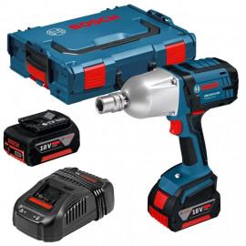 """Гайковерт Bosch акумулаторен ударен 18 V, 5 Ah, 650 Nm, 1/2"""", GDS 18 V-LI HT- 0 601 9B1 30A"""