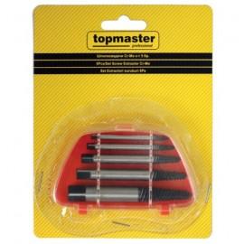 Обратни метчичи-шпилковадачи за вадене на скъсани болтове, к-т 5 бр. 499928 Topmaster