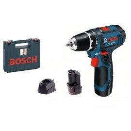Bosch GSR 10.8-2-Li, Винтоверт акумулаторен 2-скоростен 10.8 V, 2 Ah, 0-350 / 0-1300 об./мин, 13/30 Nm
