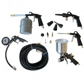 REM Power DWK 14 S, Комплект пневматични инструменти 14 бр.