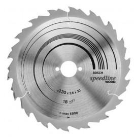 Диск циркулярен HM за рязане на дърво напречно и надлъжно подаване ф 160х20х2.4 мм, z 12 Bosch Speedline Wood 2 608 640 786
