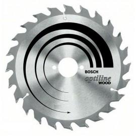 Диск метален HM за рязане на дърво напречно и надлъжно подаване 160x20x2.6 мм, 24 z Bosch Optiline Wood