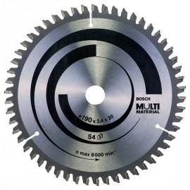 Диск циркулярен за алуминий Bosch /190, 20, 2.4, z54/