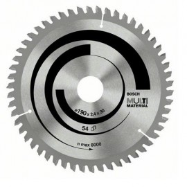 Диск циркулярен за алуминий Bosch /190, 30, 2.4, z54/