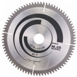 Диск циркулярен за алуминий Bosch /ф216, 30, 2.5, z60/