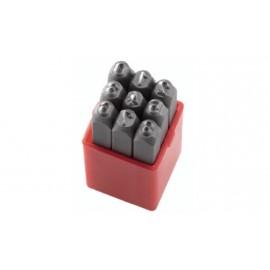 Цифри Fervi за ръчно набиване комплект 9 бр., 4 мм, P012/N04