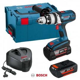 Bosch GSB 36 VE-2 Li, Бормашина винтоверт акумулаторна ударна 36 V, 4 Ah, 0-420/0-1800 об./мин, 100 Nm
