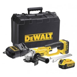 Ъглошлайф акумулаторен DEWALT DCG412M2 /18 V, 4 Ah, ф 125 мм/
