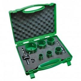 Боркорони за метал ф 22-82 мм комплект 752175 Hitachi