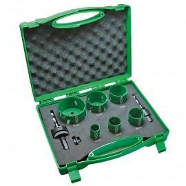 Боркорони за метал ф 22-64 мм комплект Hitachi