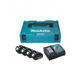 Батерия Makita Li-Ion комплект със зарядно устройство 18 V, 3 Ah, 4 бр. 197954-1