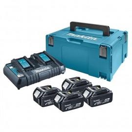 Makita , Батерия за електроинструменти Li-Ion комплект 18.0 V, 4.0 Ah, 4х BL1840, DC18RD, 197503-4