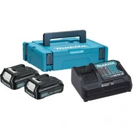 Makita , Батерия за електроинструменти Li-Ion комплект 10.8 V, 2.0 Ah, 2x BL1020B, DC10SA, 197657-7