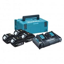 Makita , Батерия за електроинструменти Li-Ion комплект 18.0 V, 3.0 Ah, 4х BL1830, DC18RD