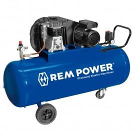 Компресор с електродвигател с ремъчна предавка 10 bar, 200 л, 3.0 к.с., 230 V REM Power E 351/10/200