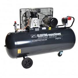 Компресор с електродвигател с ремъчна предавка 9 bar, 270 л, 4.0 к.с., 400 V REM Power E 500/9/270