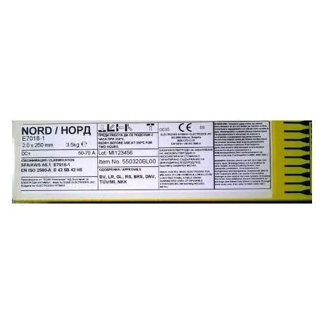 Електроди Норд ф5.0 х 6кг.
