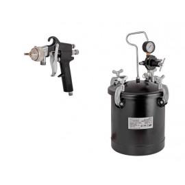 Пистолет за боя с казанче и маркуч RAIDER RD-PT02