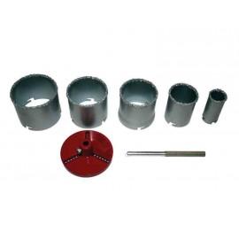Боркорони Ø 33-83 мм за керамични плочки комплект 7 части RAIDER