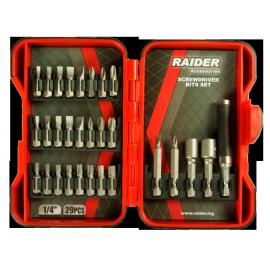 """Накрайници 1/4"""" комплект 29 броя RAIDER"""